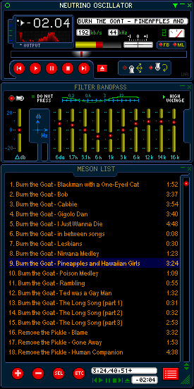 Winamp skin screenshot